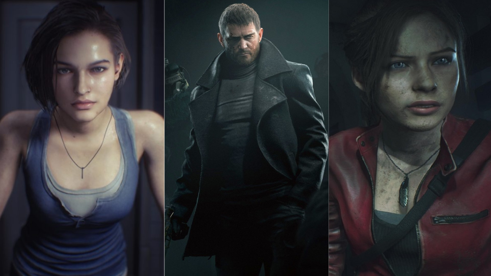 Jill Valentine, Chris Redfield and Claire Redfield from the Resident Evil Franchise.