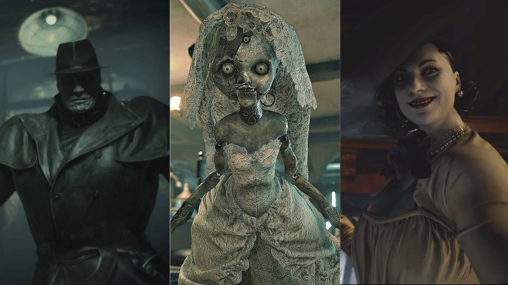 Mr X, Angie and Lady Dimitrescu from the Resident Evil franchise.