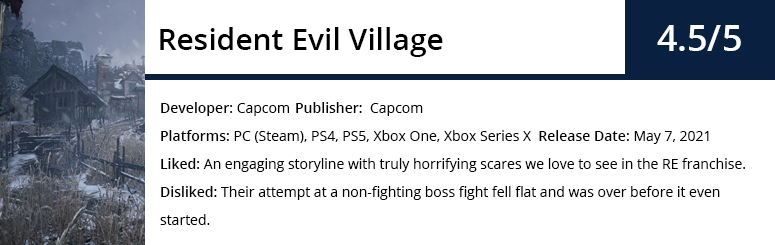 Resident Evil Review Summary Image.