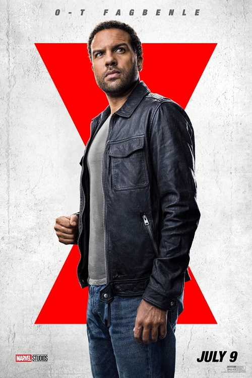 Poster of O-T Fagbenle as Rick Mason in Marvel's Black Widow.