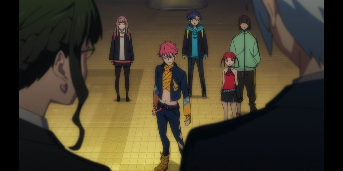 """The Dyna Soldiers meet Knight and Second (SSSS.DYNAZENON season 2 episode 6, """"What's Our Reason for Coming Together?"""")"""