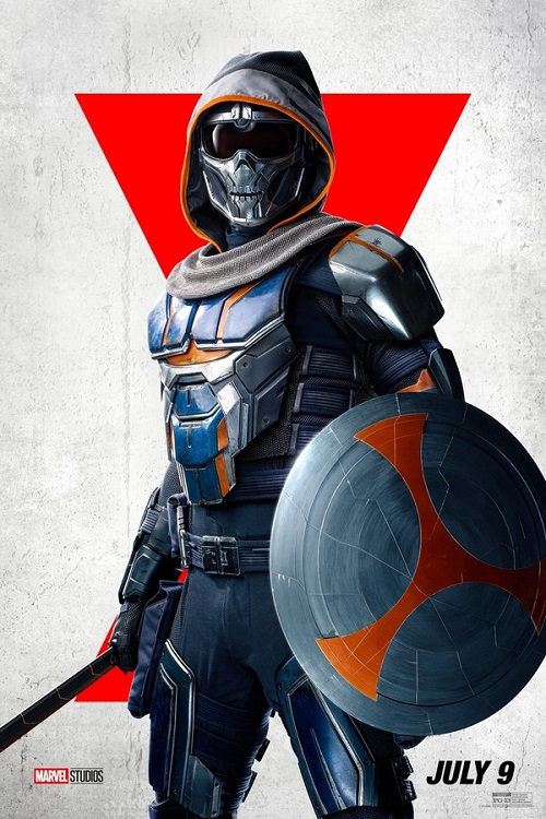 Poster of the Taskmaster in Marvel's Black Widow.