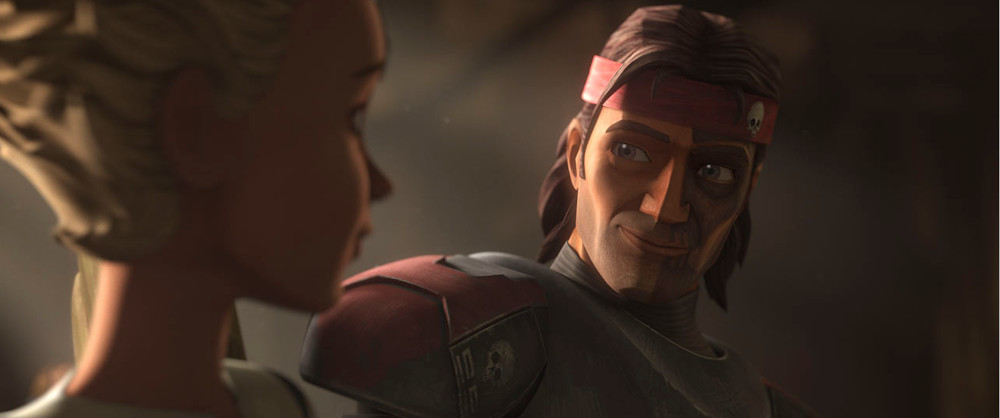 Omega and Hunter in Star Wars: The Bad Batch.