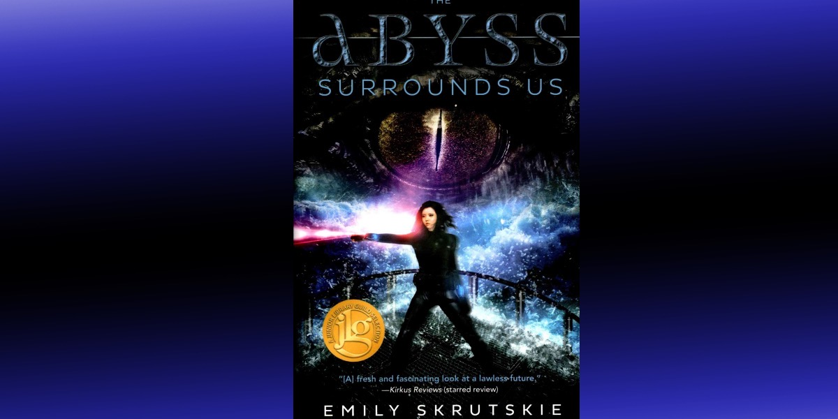 cover of abyss surrounds on gradient background