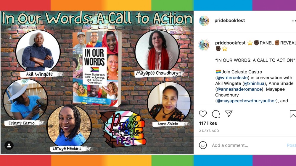 photo of instagram post for to action panel