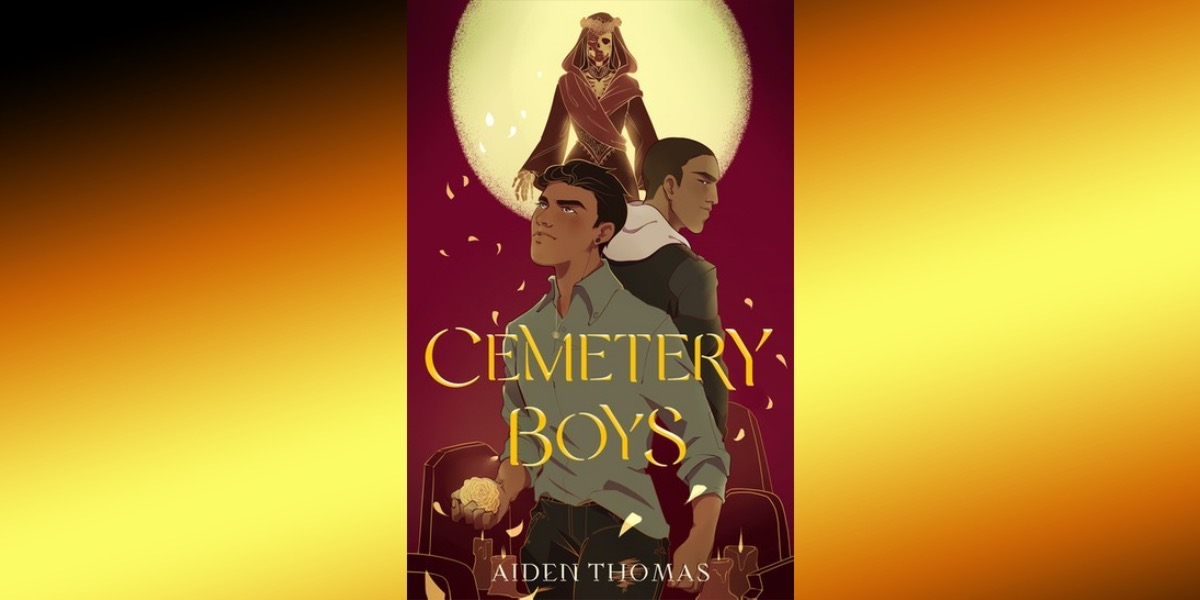 cover of cemetery boys on gradient background