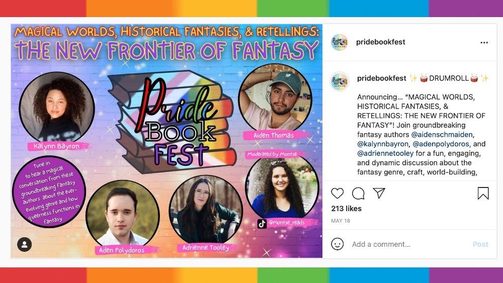 pride book fest fantasy panel insta post