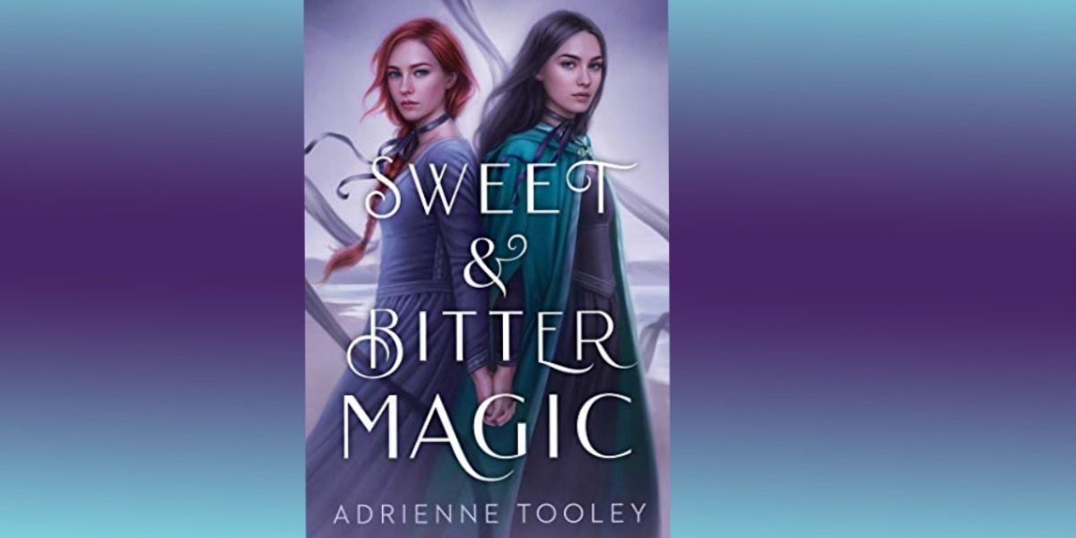 cover of sweet and bitter magic with gradient background