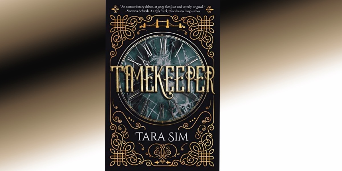 cover of time keeper with gradient background