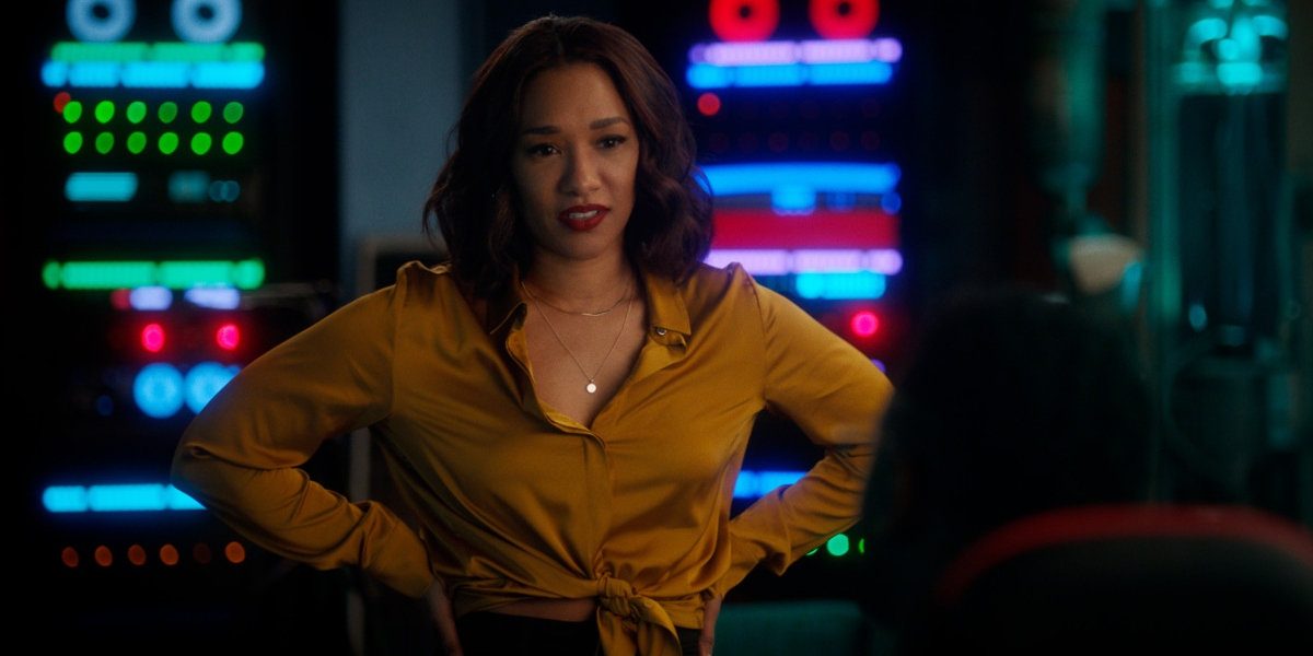 Iris cheers up Chester on The Flash