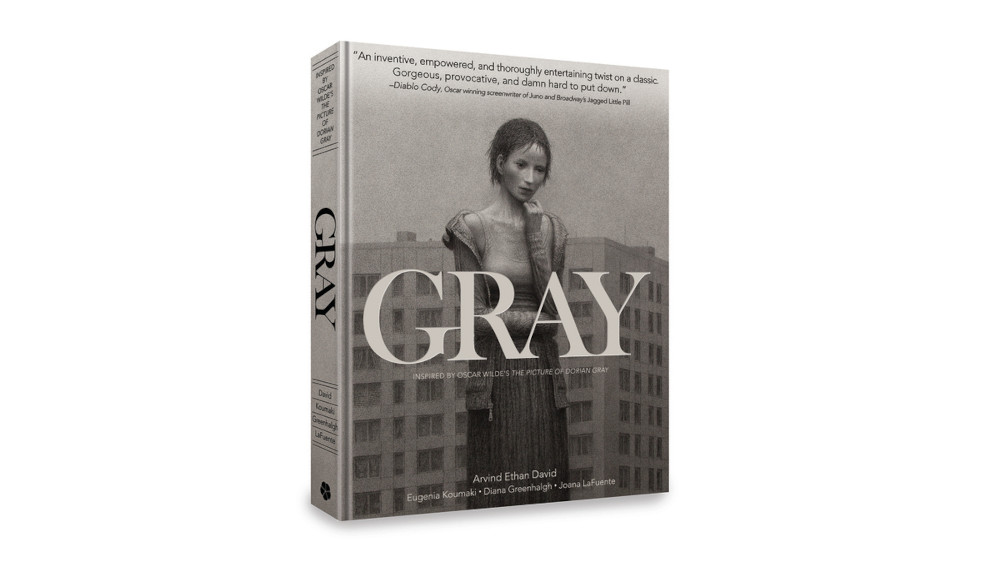 Cover art for the graphic novel Gray