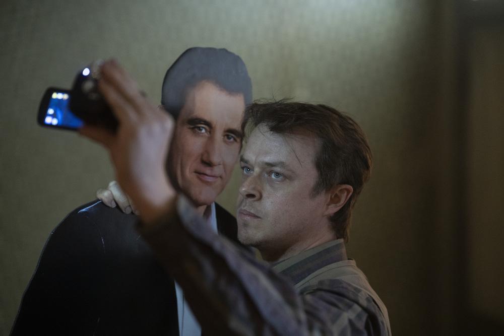 Jim recording alongside his cutout of Scott Landon in Lisey's Story.
