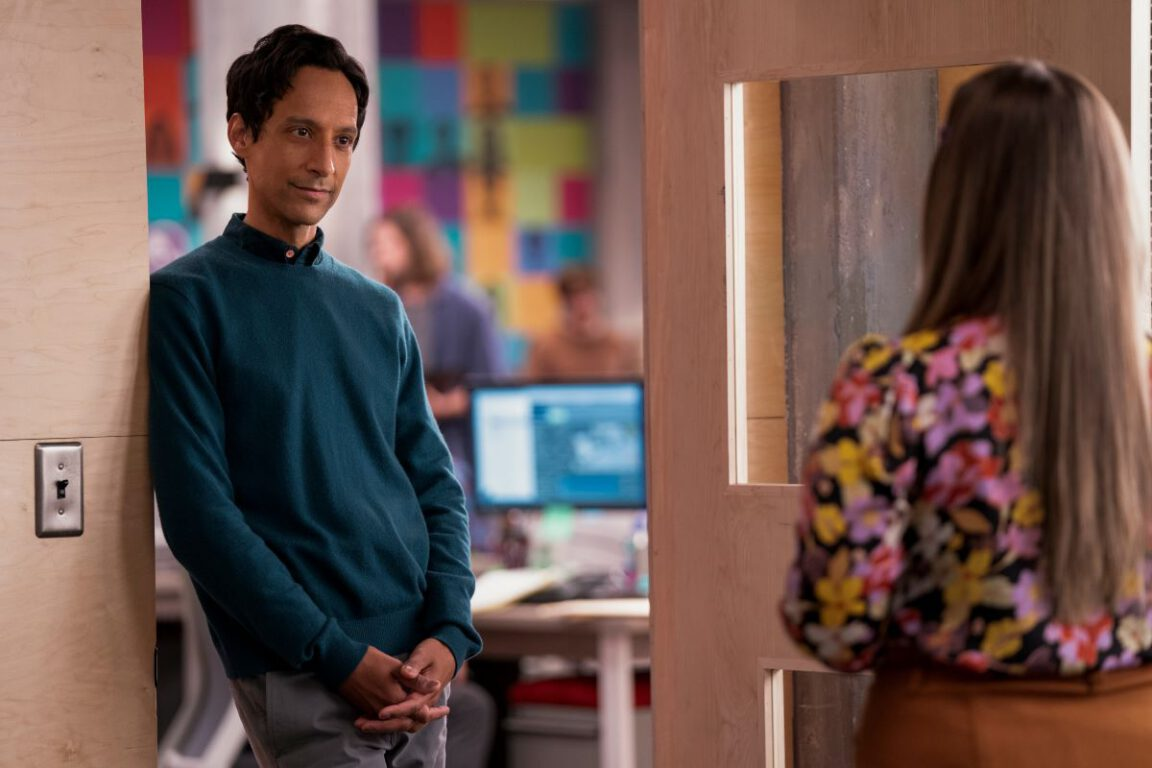 """Still of Danny Pudi in the Mythic Quest episode """"Juice Box."""""""