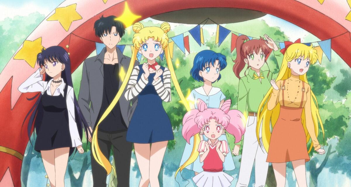 Rei, Mamoru, Usagi, Ami, Chibiusa, Makoto and Minako in Pretty Guardian Sailor Moon Eternal The Movie.
