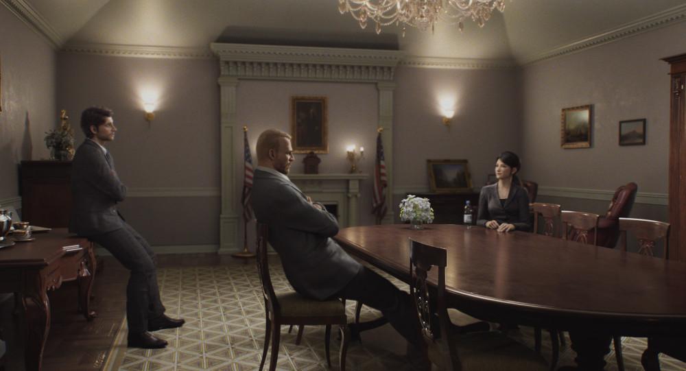 Staff meeting in Resident Evil: Infinite Darkness.