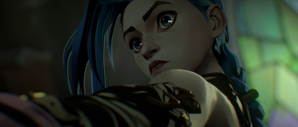 Jinx in the animated series Arcane.