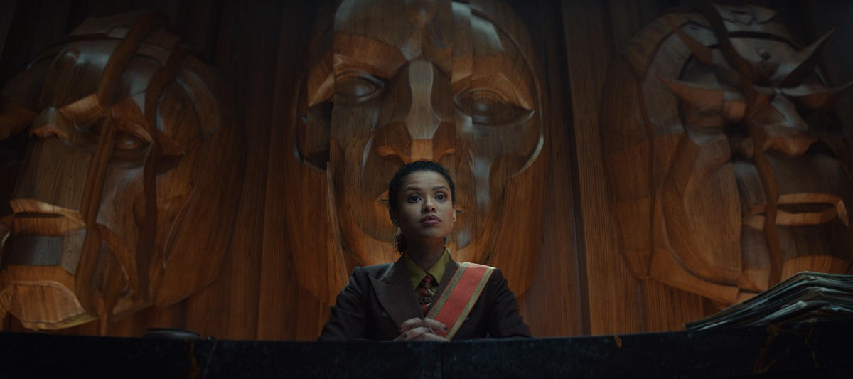 "Still of Gugu Mbatha-Raw in Loki episode ""Glorious Purpose."""