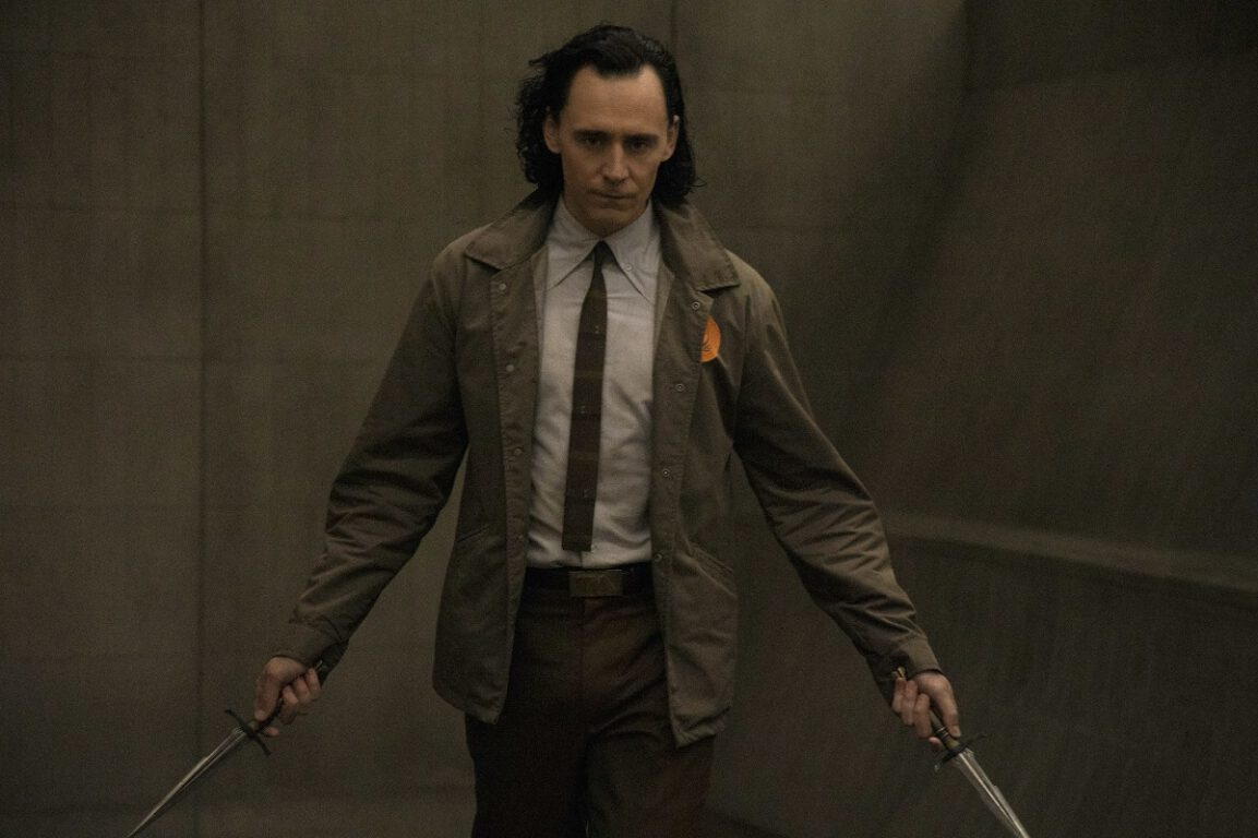 "Still of Tom Hiddleston in the Loki episode ""The Variant."""
