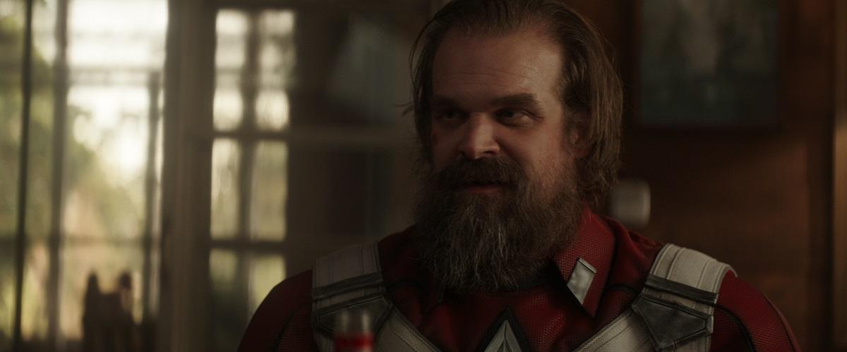 Still of David Harbour as Alexei Shostakov in Marvel's Black Widow.