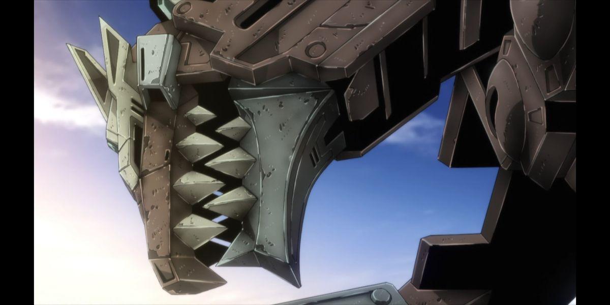 the deactivated Dyna Rex (SSSS.DYNAZENON season 2 episode 12)