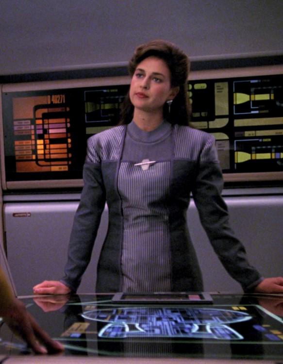Susan Gibney as Dr. Leah Brahms in Star Trek: The Next Generation