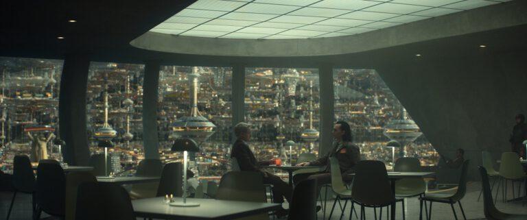 "Still of Tom Hiddleston and Owen Wilson in the Loki episode ""The Variant."""