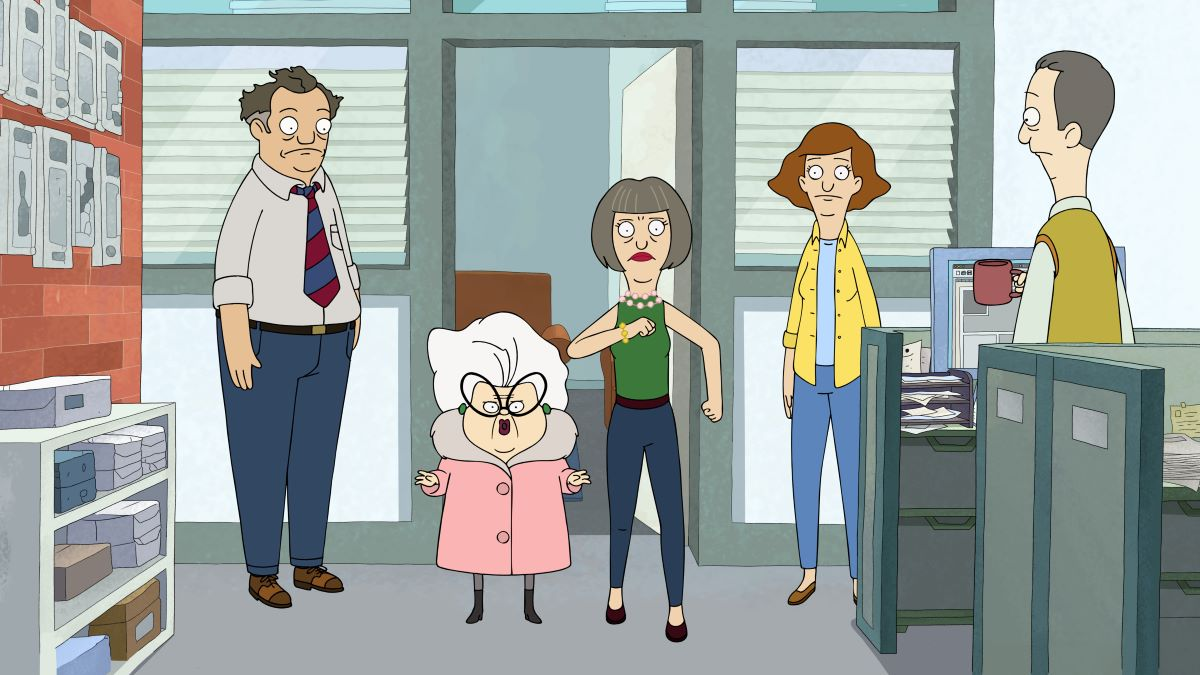 """Still of Marvin, Bitsy, Roberta and Paige in the Central Park episode """"Down to the Underwire."""""""