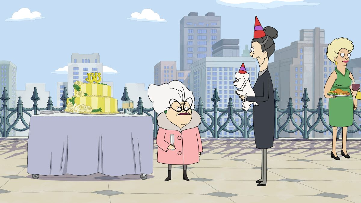 """Photo of Bitsy and Helen in the Central Park episode """"A Decent Proposal."""""""