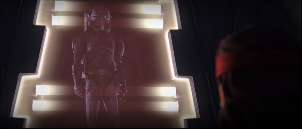 Crosshair reunited with the imprisoned Hunter on Star Wars: The Bad Batch.