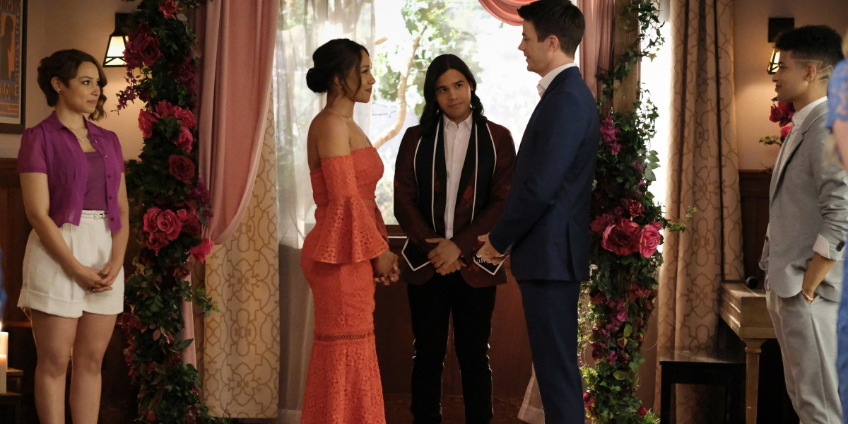 Barry and Iris renew their wedding vows