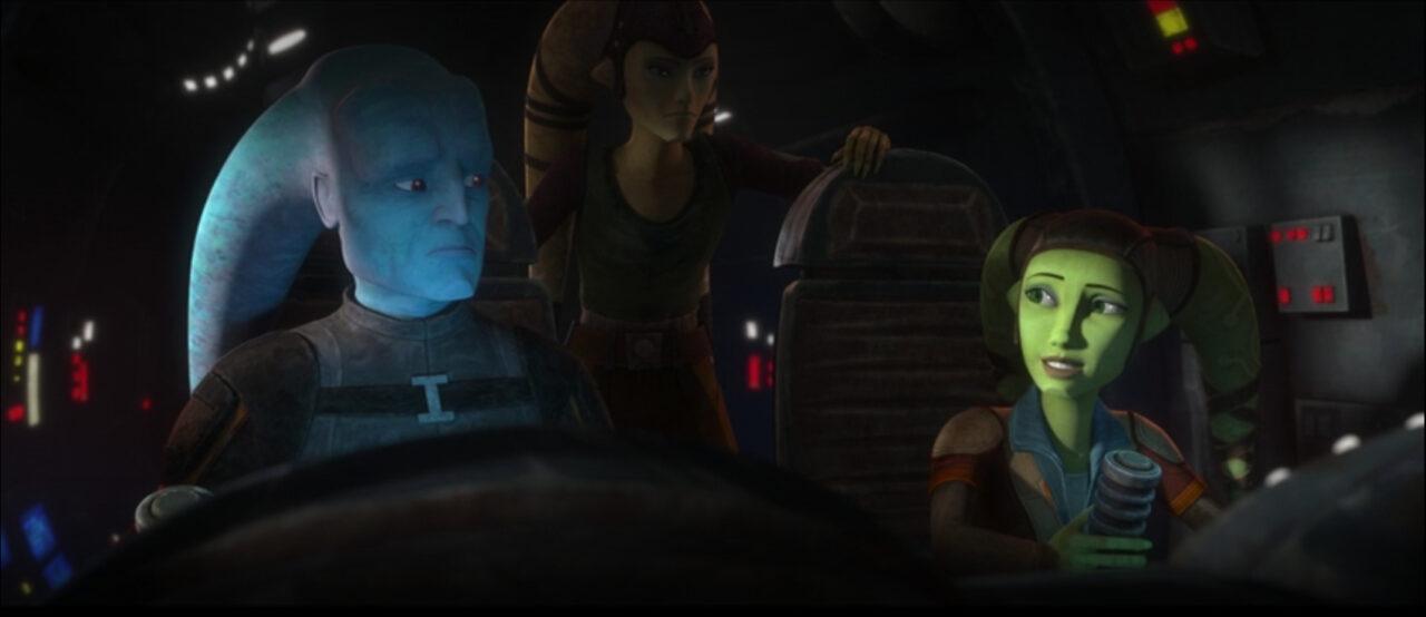 Hera pilots a starship on Star Wars: The Bad Batch