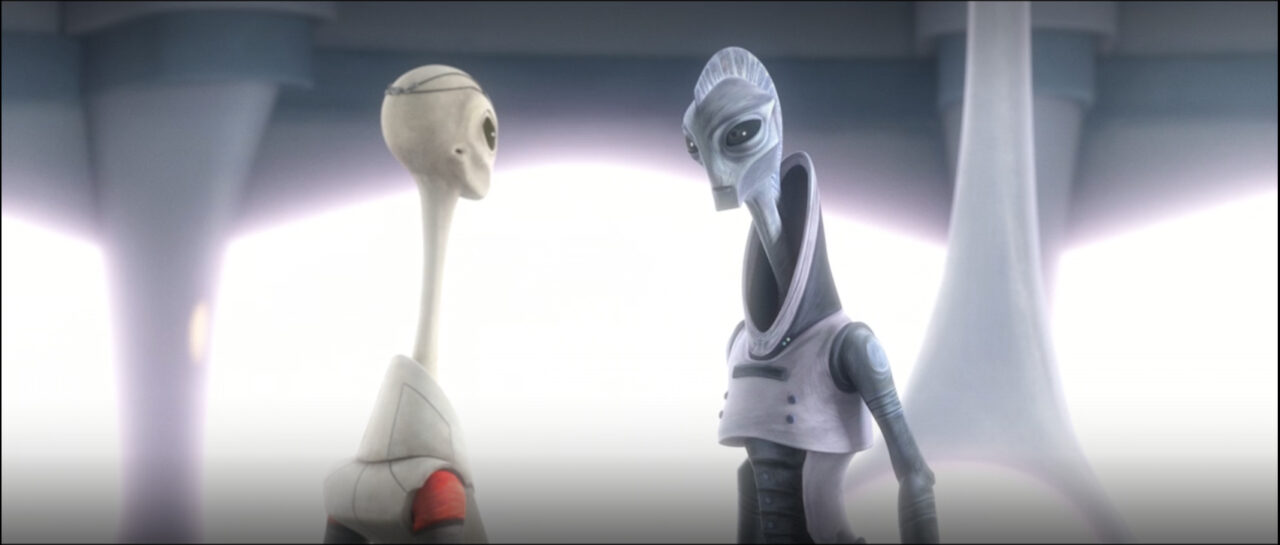 Lama Su and Nala Se plan their escape from the Imperials
