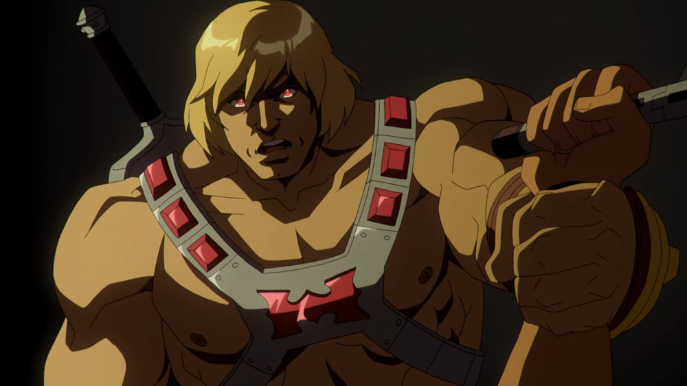 MASTERS OF THE UNIVERSE: REVELATION (L to R) CHRIS WOOD as HE-MAN in episode 104 of MASTERS OF THE UNIVERSE: REVELATION Cr. COURTESY OF NETFLIX © 2021