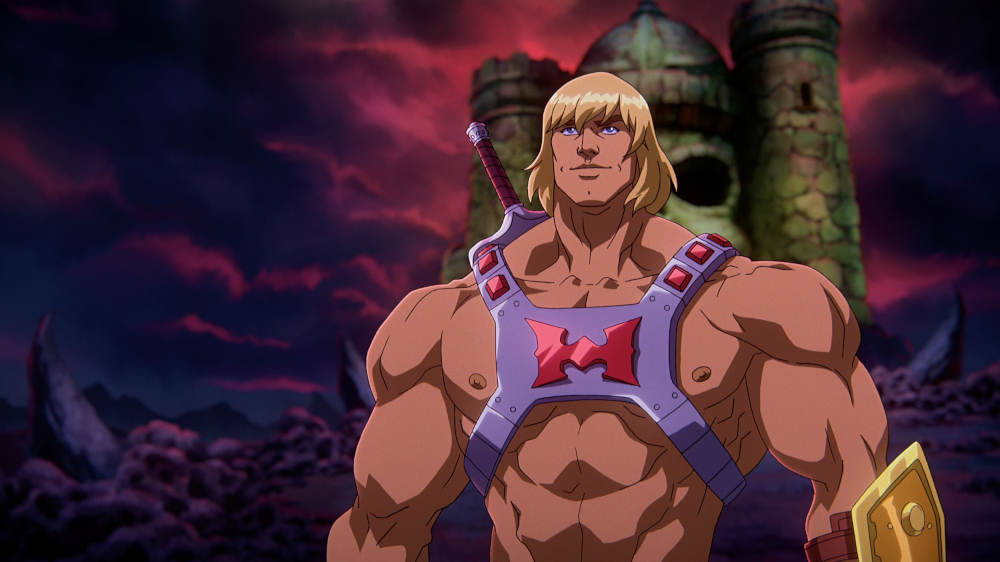 MASTERS OF THE UNIVERSE: REVELATION (L to R) CHRIS WOOD as HE-MAN in MASTERS OF THE UNIVERSE: REVELATION Cr. COURTESY OF NETFLIX © 2021