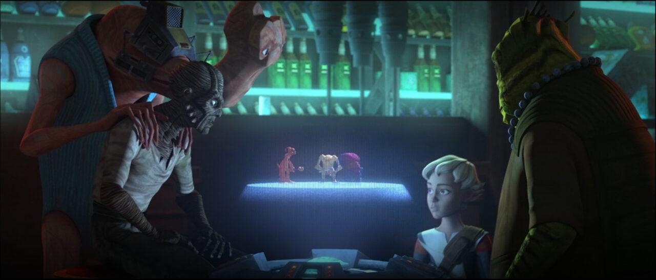 Cid discovers that Omega is a natural dejarik player.