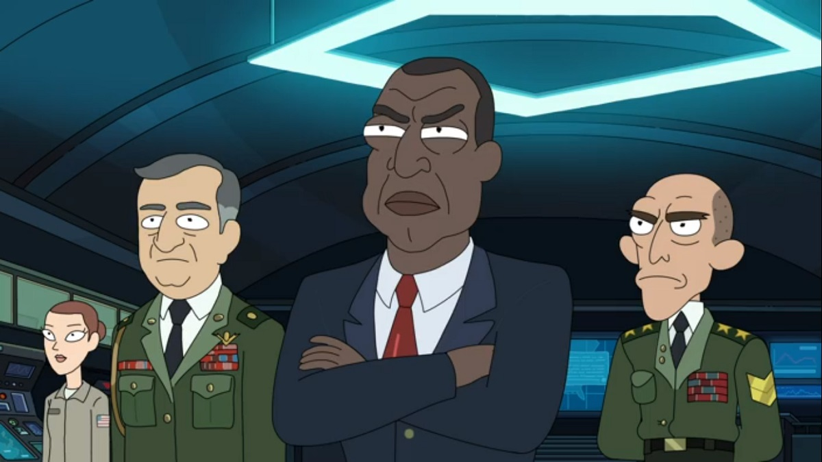 Photo of the President on Rick and Morty.