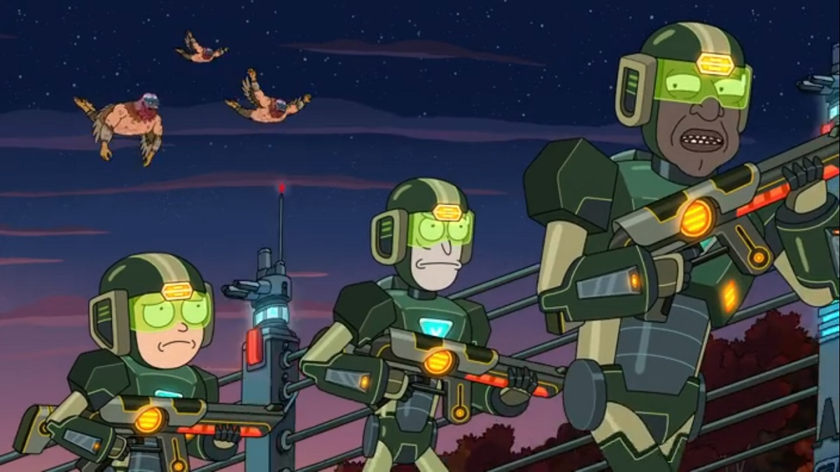 Photo of Rick, Morty and the President on Rick and Morty.