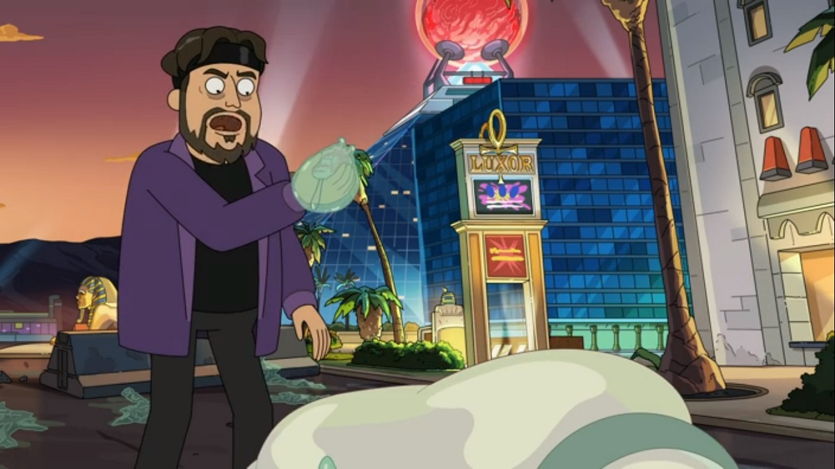 """Photo of Amazing Jonathan in the Rick and Morty episode """"Rickdependence Spray."""""""