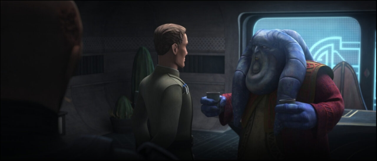 Senator Orn Free Taa asks his Imperial allies to eliminate Cham Syndulla.