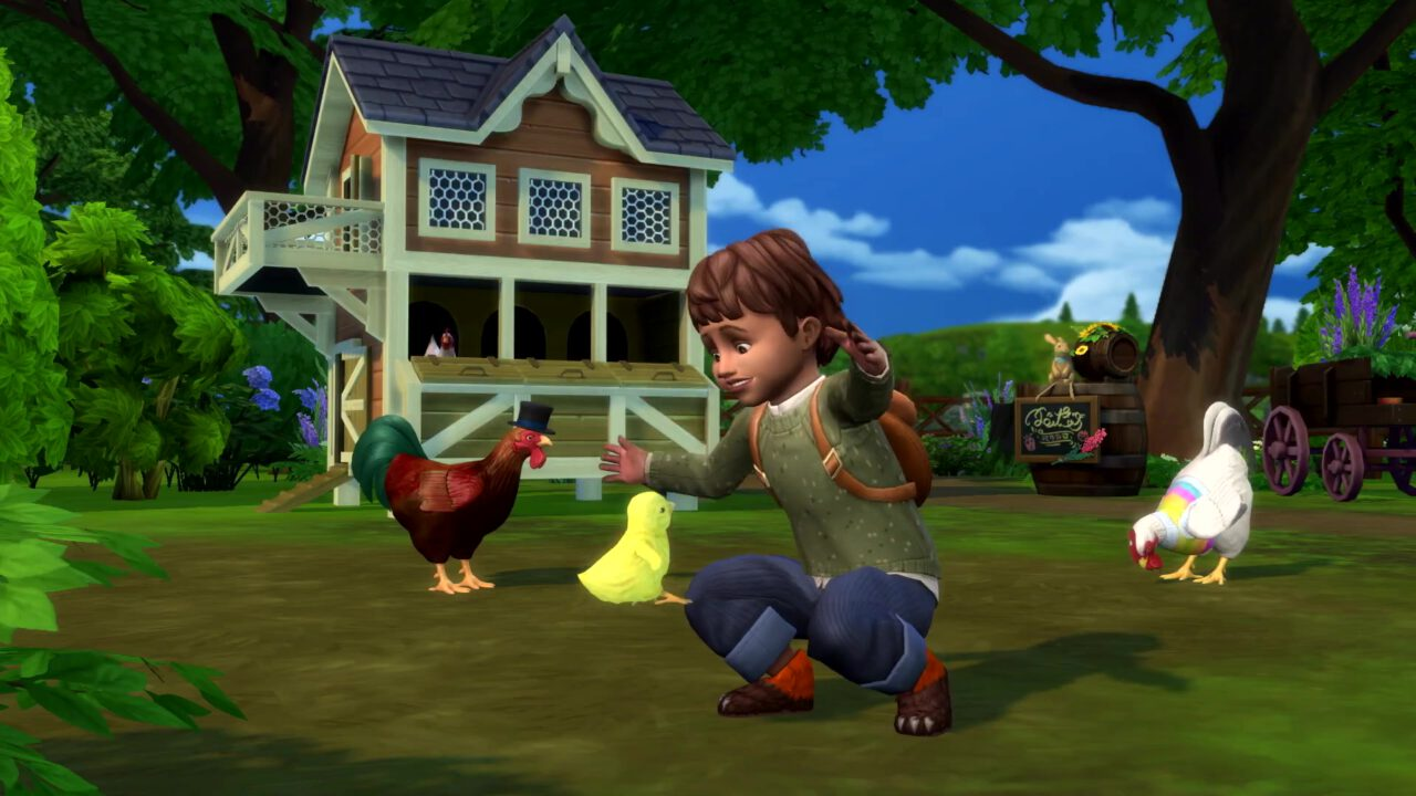 The Sims 4 Cottage Living. Chicken coop.