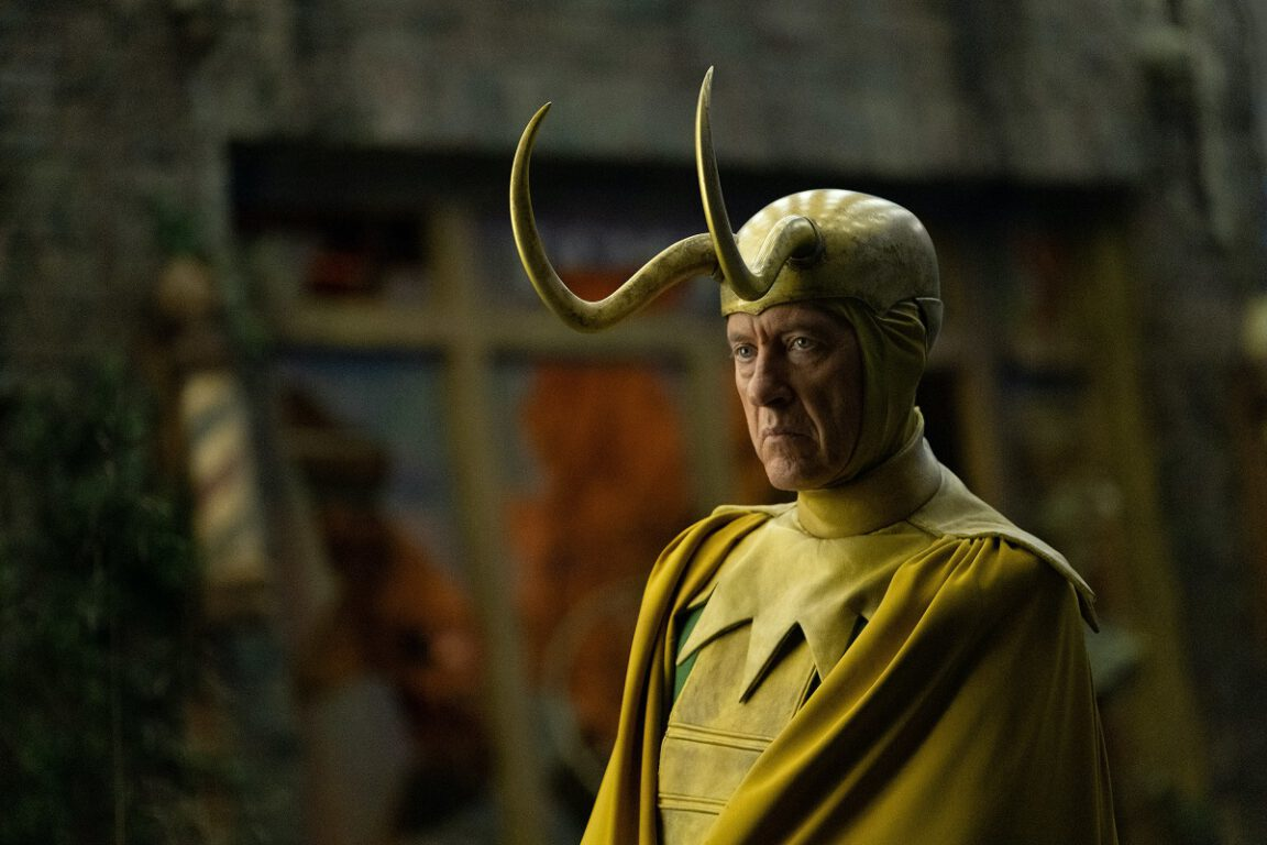 "Still of Richard E. Grant in the Loki episode ""Journey Into Mystery."""