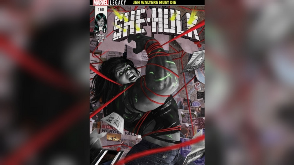 Cover of She-Hulk, which centers on eating disorders.