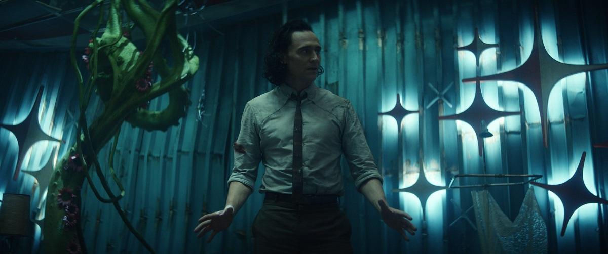 "Still of Tom Hiddleston in the Loki episode ""Journey Into Mystery."""
