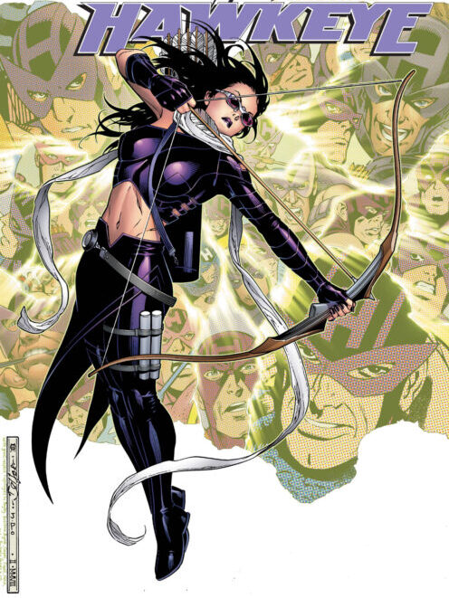 the cover of marvel's comic book, hawkeye