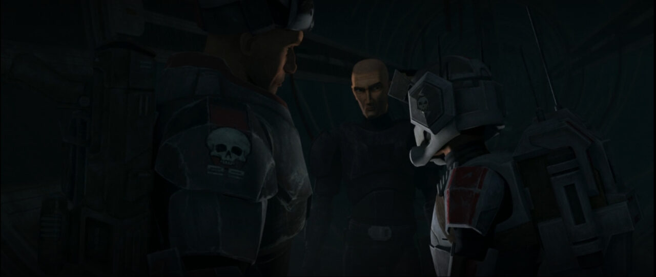 Crosshair argues with the Bad Batch.