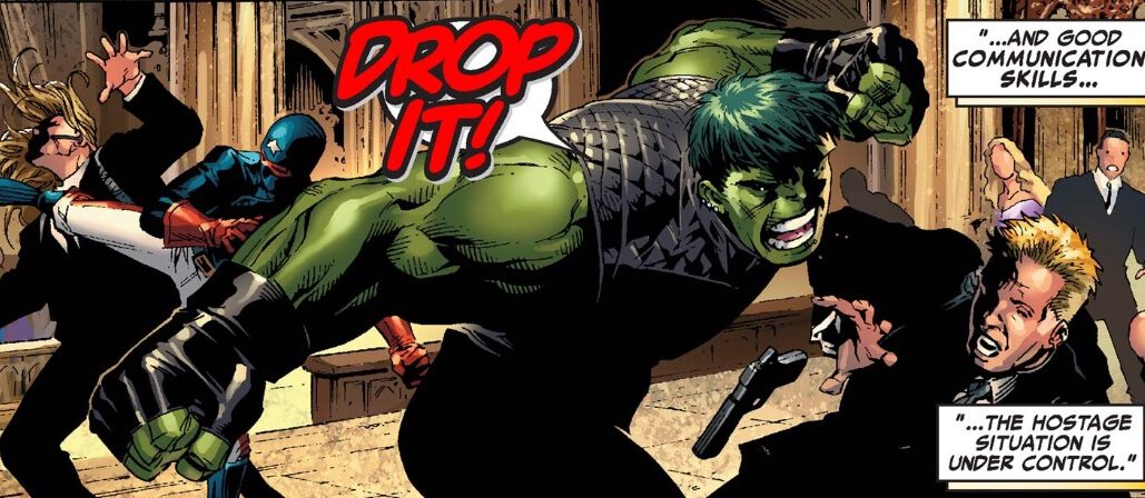Hulkling in the middle of a fight