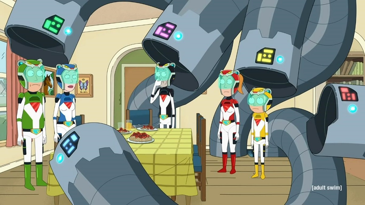 """Photo from Rick and Morty episode """"Gotron Jerrysis Rickvangelion."""""""