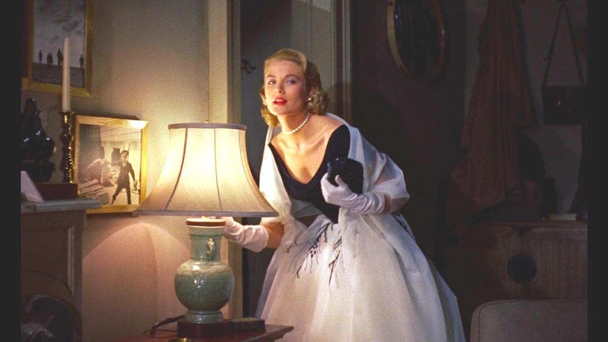 Still of Grace Kelly in horror thriller Rear Window.