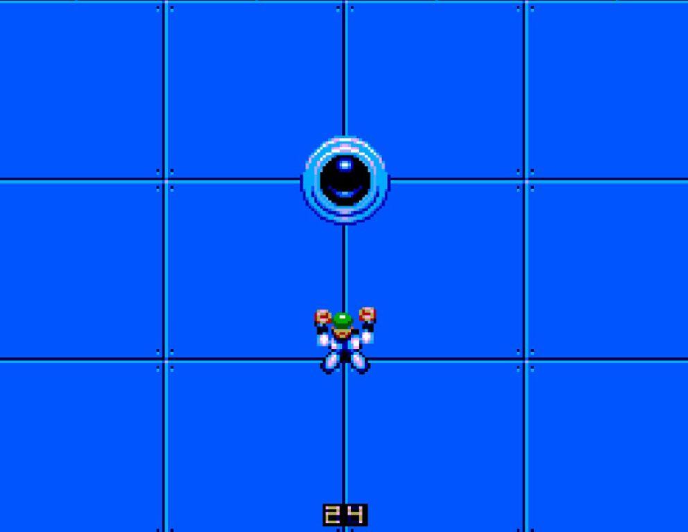 Screenshot of Speedball 2 Sega Master System game.