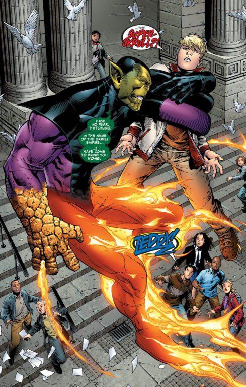 Teddy Altman (Hulkling) in battle with Super Skrull